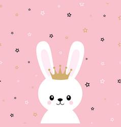 cute princess bunny vector image