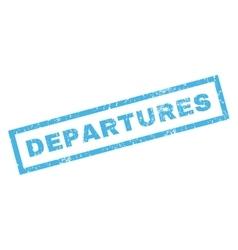 Departures Rubber Stamp vector