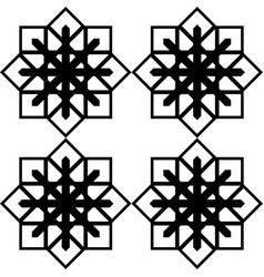 design seamless monochrome snowflake pattern vector image