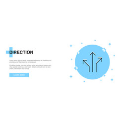 direction icon banner outline template concept vector image