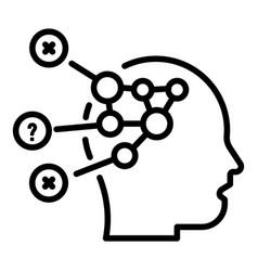 Disease head diagram icon outline style vector