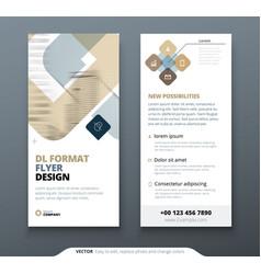 Dl flyer design biege template flyer banner vector