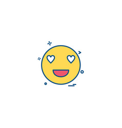 eyes heart smiley emoji icon design vector image