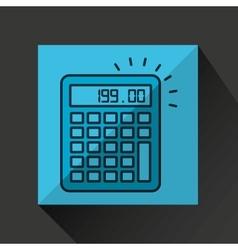 financial calculator money economy icon vector image