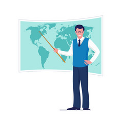 geography teacher and education school concept vector image