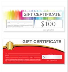 gift voucher template retro vintage design 00022 vector image
