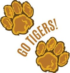 Go Tigers vector