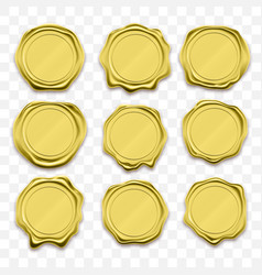 gold stamp wax seal sealing retro label vector image
