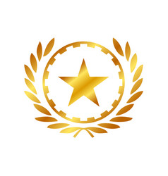 Golden star working class hero symbol logo design vector