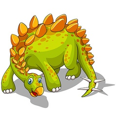 Green dinosaur with spikes tail vector image