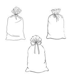 hand drawn cartoon style shopping bags design vector image vector image