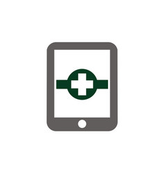 Health phone app vector