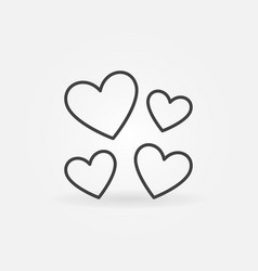 hearts love concept icon or symbol in thin vector image