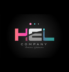 Hel h e l three letter logo icon design vector