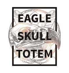 Hipster Design With Eagle Skull vector