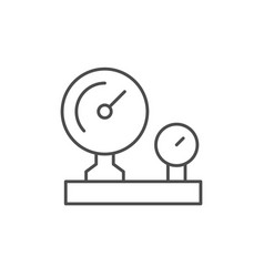 Industrial manometer line outline icon vector