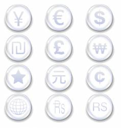 international currency icons vector image