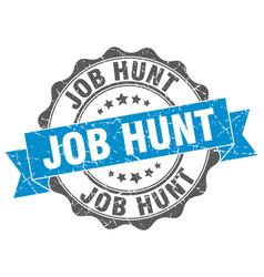 Job hunt stamp sign seal vector