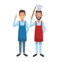 Labor day employees cartoon vector