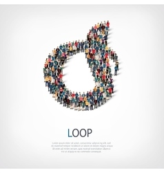 loop people sign 3d vector image