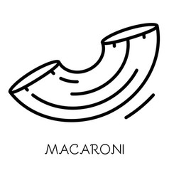 Macaroni icon outline style vector