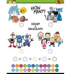 Math activity for children vector