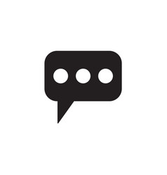 Message and speech bubbles solid icon modern sign vector