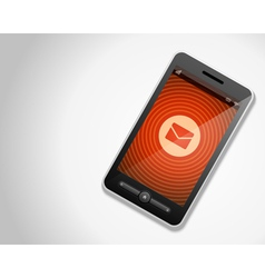 Mobile phone and incoming mail icon vector image
