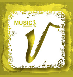 Music light template vector