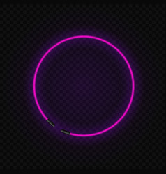neon frame vector image