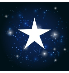 Night star sky background vector