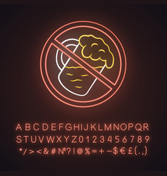 No alcohol beverage neon light icon drinking vector