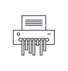 paper shredder line icon concept paper shredder vector image