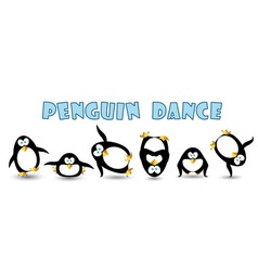 penguin dance vector image