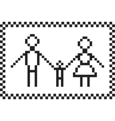 Pixel family set vector