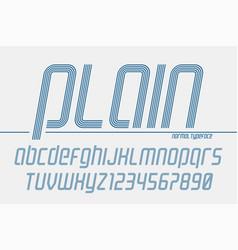 Plain display font popart design alphabet vector