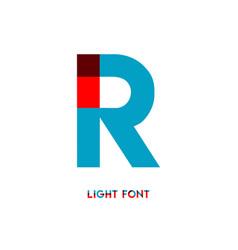 R light font template design vector