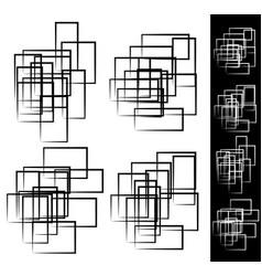 Random scattered rectangular rectangle element set vector