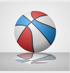 realistic basketball ball draw vector image