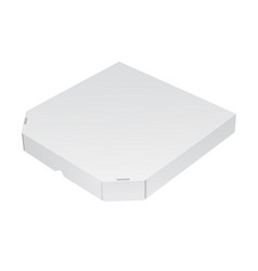 realistic packing box for pizza 3d vector image