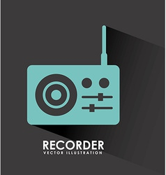 recorder design vector image