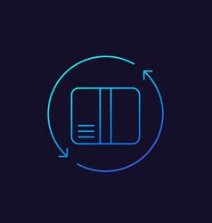 Return icon linear vector