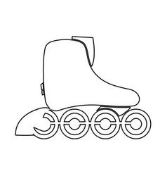 Roller skate black color icon vector