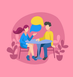 romantic couple chatting vector image