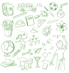 School board free hand drawing vector