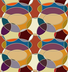 Seamless pattern of circular items vector