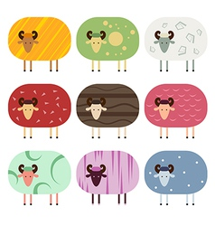 Sheep collection vector image