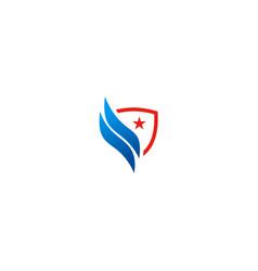 Shield shape star logo vector