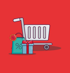 shopping and discount design vector image