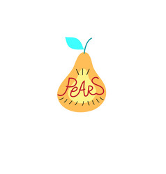 Sign graphics pear vector